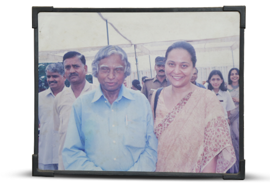 Rosetta Williams with Dr. APJ Abdul Kalam